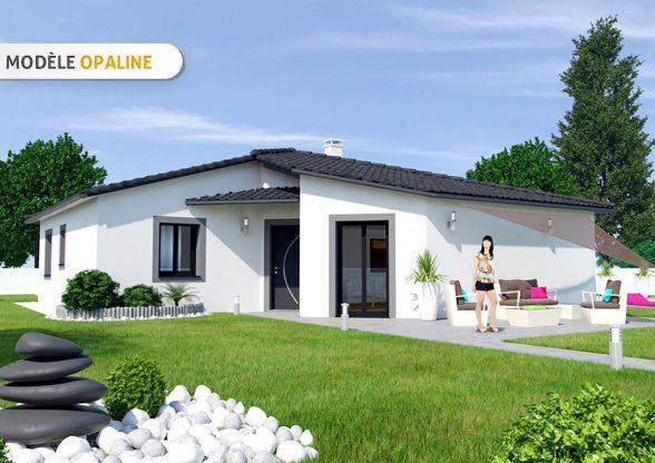 Voici un modèle maison plain pied nommé Opaline proposé à la vente - modeles de maison a construire