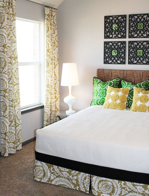 Green Yellow Guest Room Eclectic Bedroom Bedroom Pinterest - Yellow guest bedroom decorating ideas