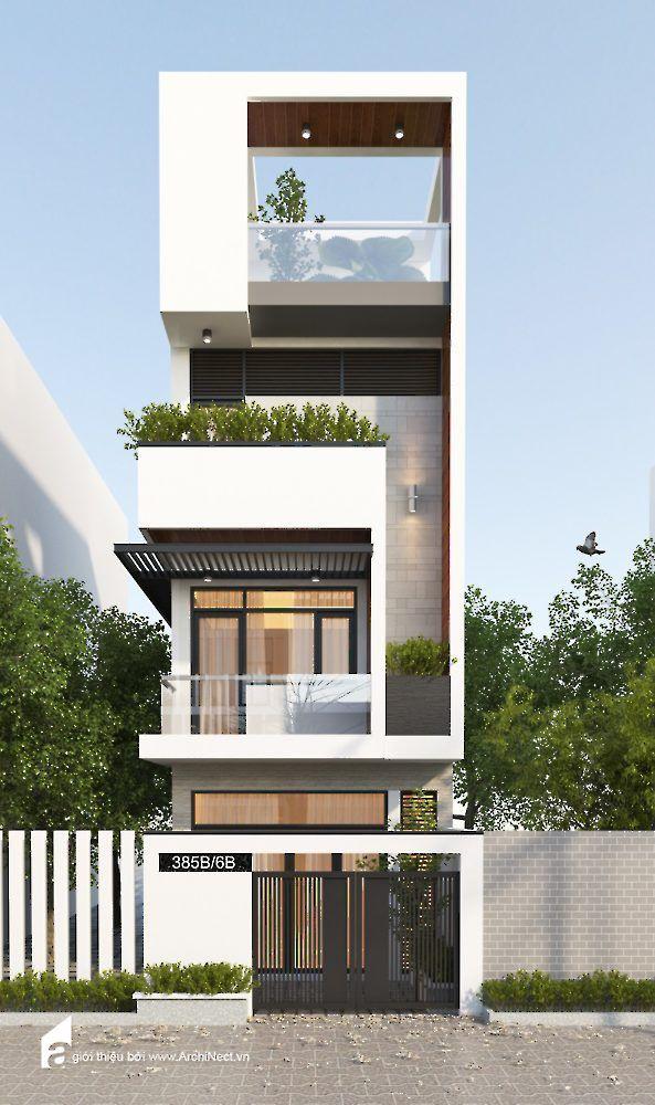 Mat tien nha hien dai 5 casa for Fachadas de casas modernas de 6 metros