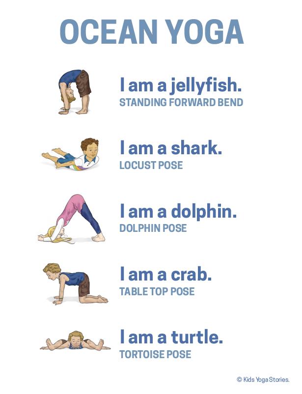 Ocean Yoga Poster (With images) | Preschool yoga, Yoga for kids ...