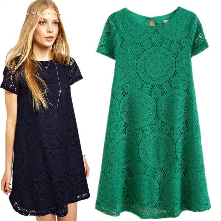 Women Summer Dress 2014 Womens New Fashion Vintage Bohemian Lace Plus Size Loose Party Evening Elegant Bottom Mini Dresses - http://nklinks.com/product/2015-spring-summer-women-new-fashion-vintage-bohemian-lace-plus-size-blouse-party-evening-elegant-club-blusas/