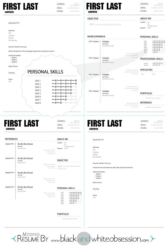 Chic And Polished Resume Template Free Photoshop Download