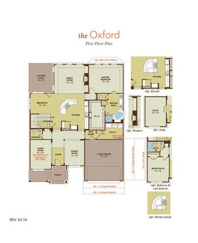 Oxford Floor Plan Options At Pecan Creek By Gehan Homes Floor