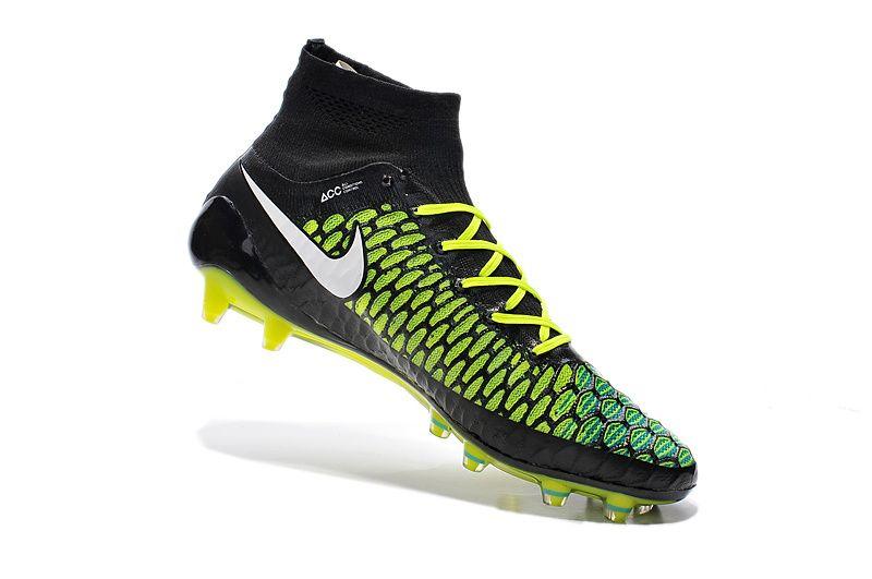 Amazing Nike Magista Obra FG Black Blue White Green $110.99