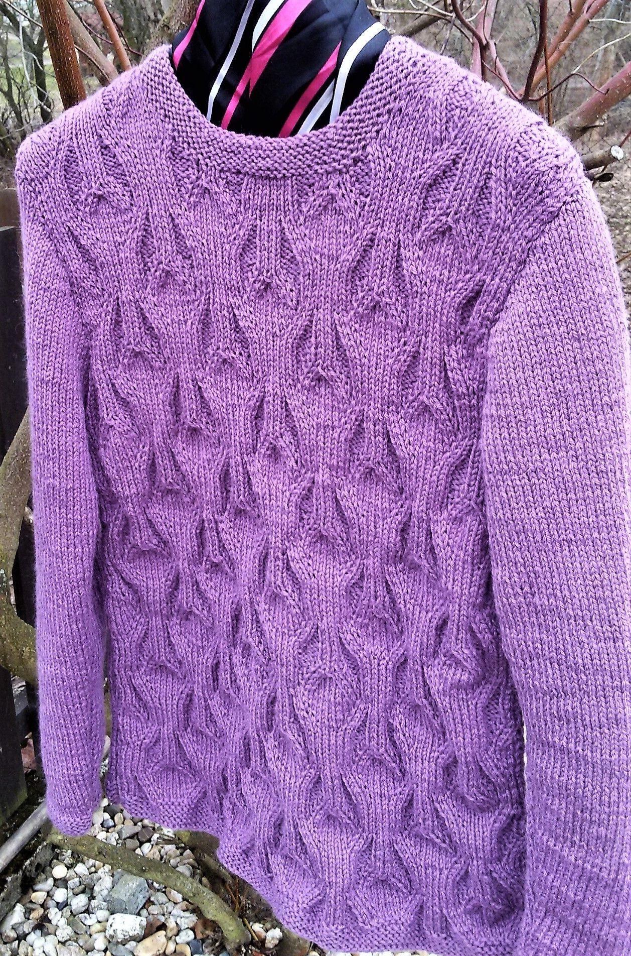 473165a8a45e Ručně+pletený+svetr+dámský+-+vřes+Elegantní+ručně+pletený+dámský+ ...