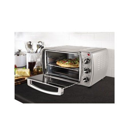 Oster 6 Slice Convection Countertop Oven Brushed Stainless Steel