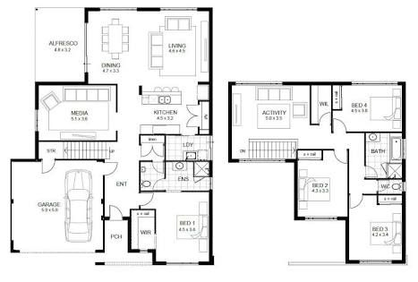 2 Storey House Designs And Floor Plans Google Search 2 Storey House Design Simple Floor Plans House Floor Plans