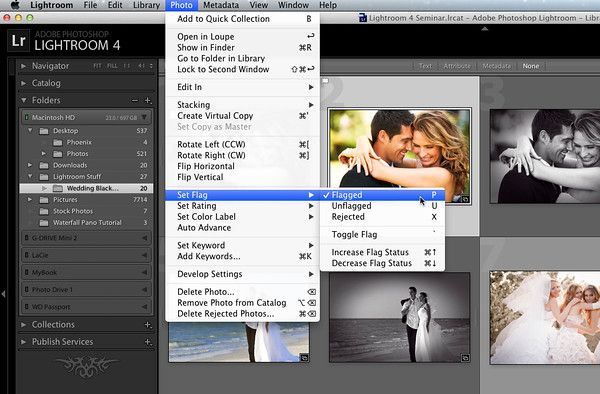Lightroom how to delete rejected photos