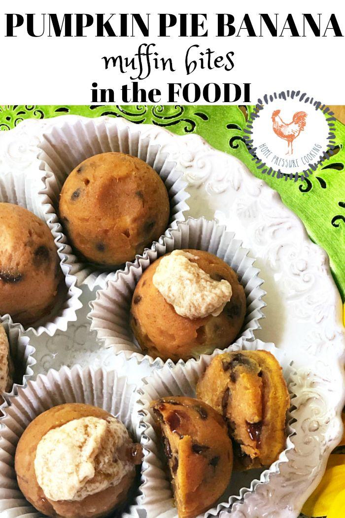 NINJA FOODI Pumpkin pie Banana Muffin Bites Home
