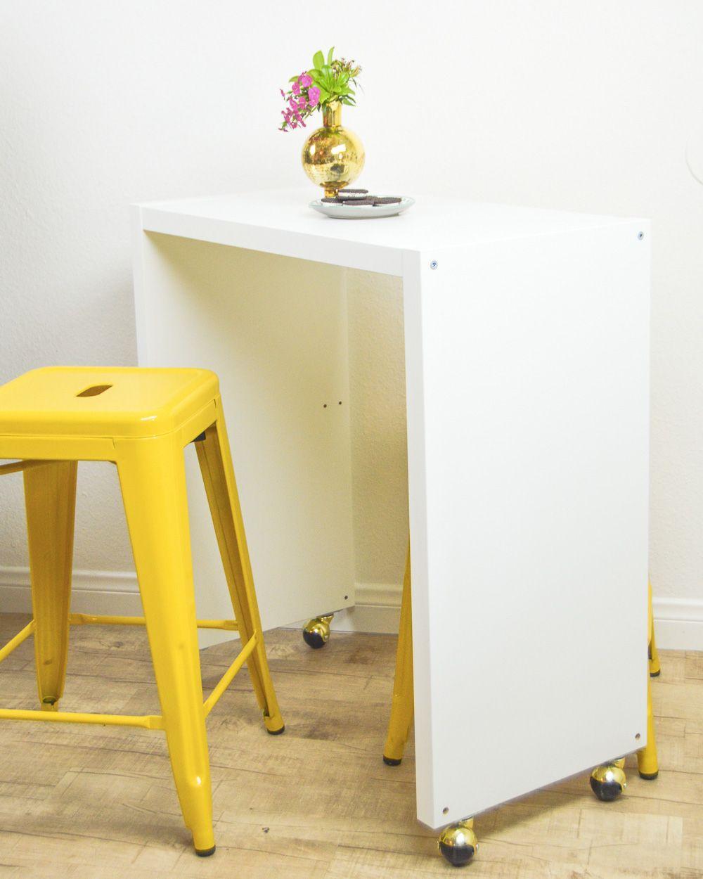 Petit Meuble Roulettes Ikea cette table haute a été réalisée avec un meuble ikea de la