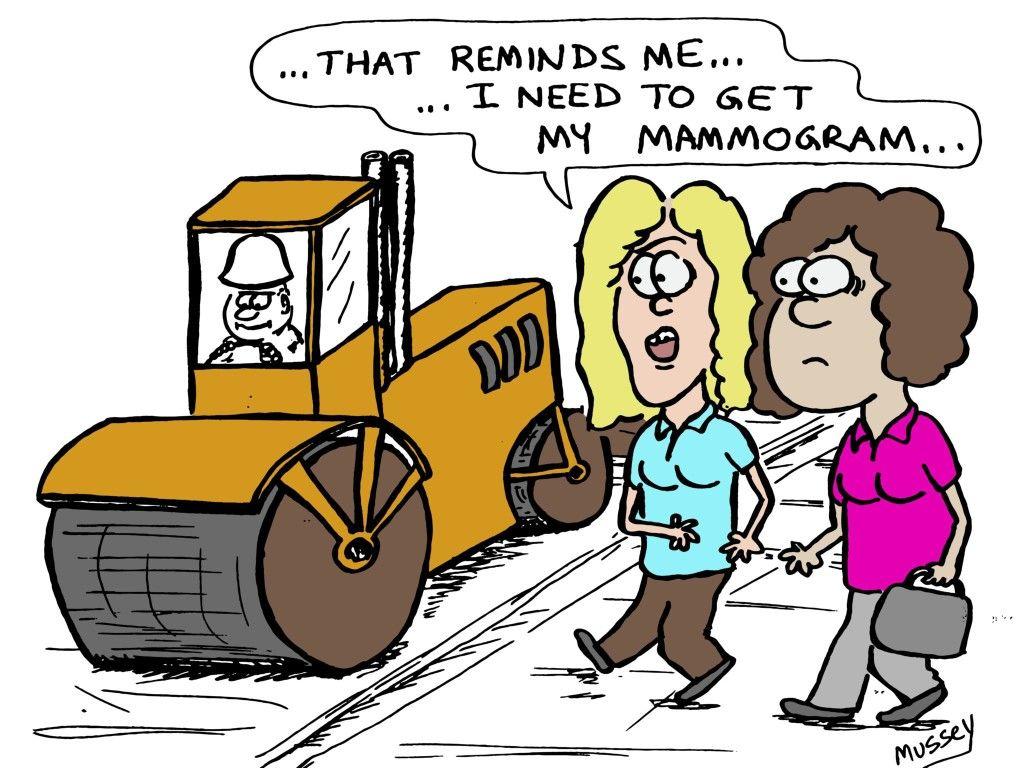 Funny Boob Cartoons the girls are alright…   mammogram humor, radiology humor