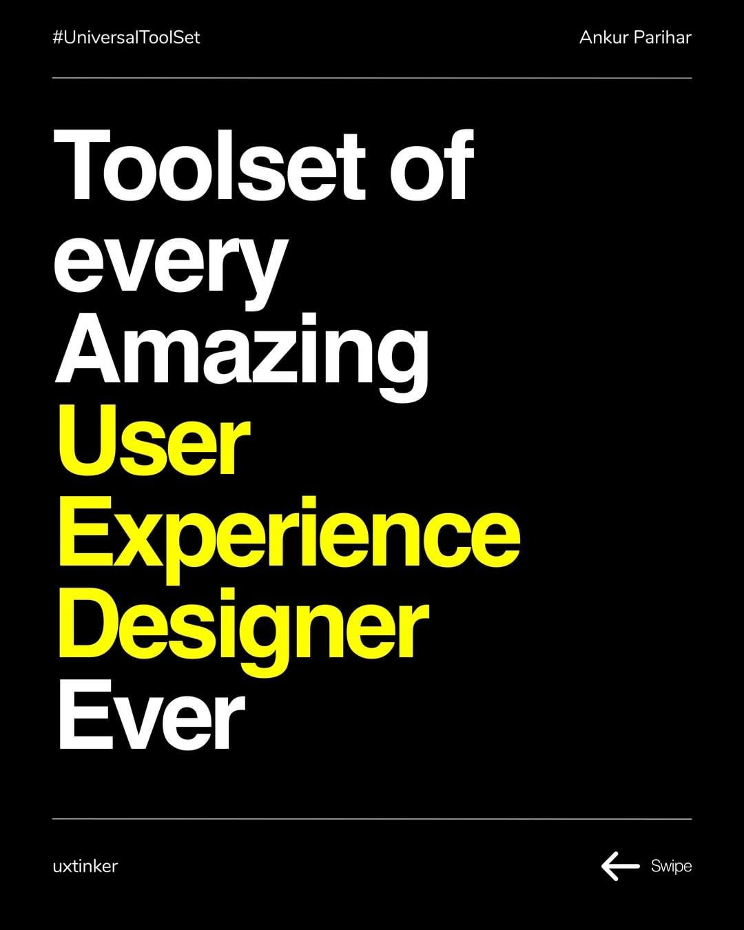 A universal toolset for User Experience Designers. We often are too much bogged down by not keeping... #userexperience