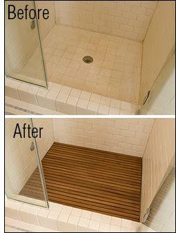 Teakworks 4 U bath mats made of teak!