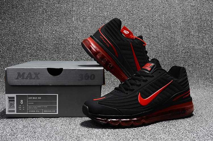 buy online 130ed 88e04 Nike AIR MAX 360 KPU KPU Men Black Red 40-47