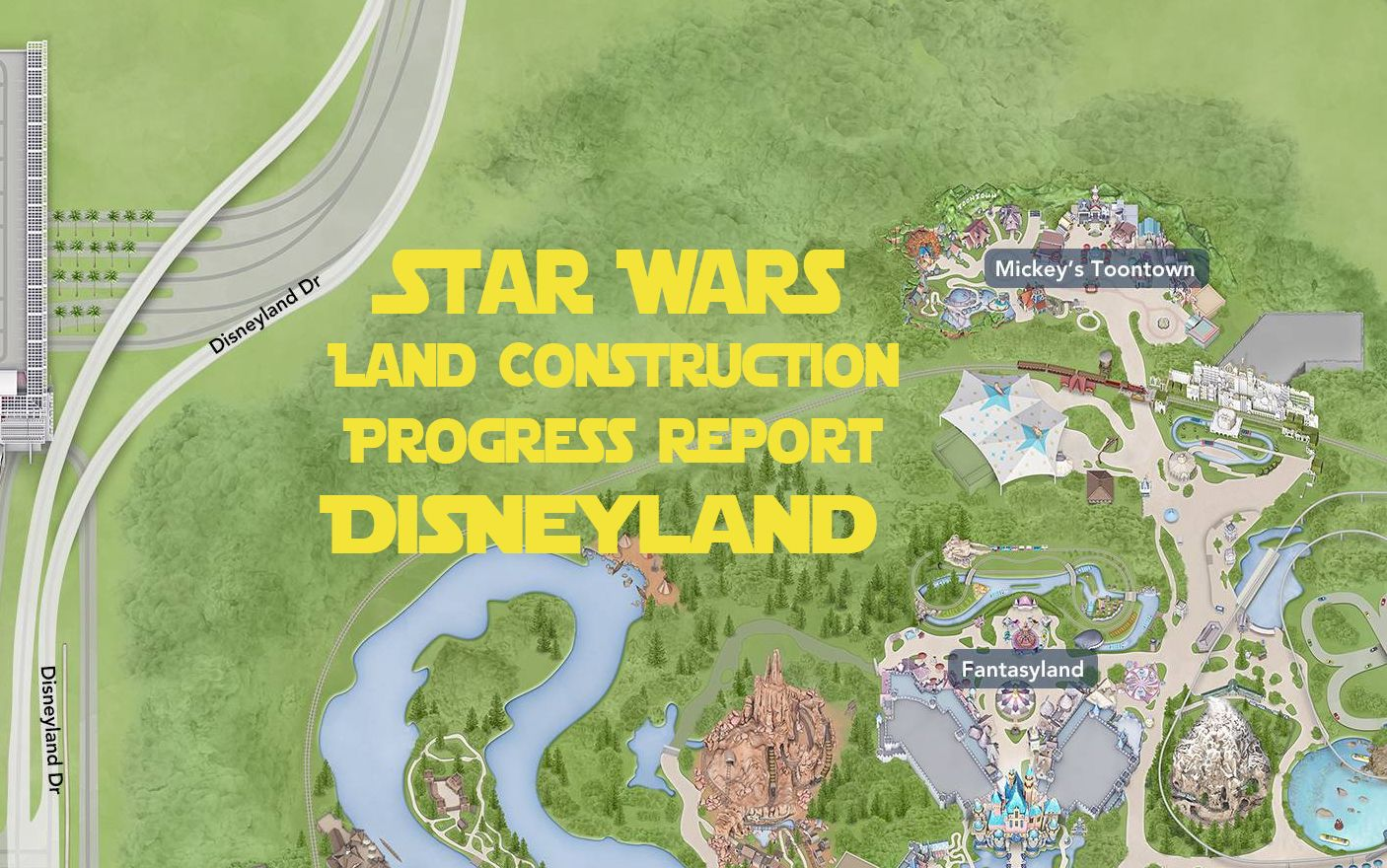 Construction for Star Wars Land is well underway at Disneyland, with the plot now almost totally cleared as of April 2016. We were in the park last Friday