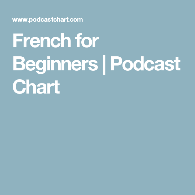 French for Beginners | Podcast Chart
