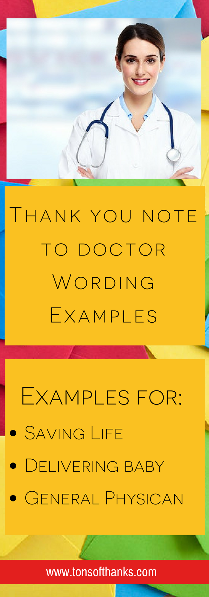 Thank You Note To Doctor Wording Examples.