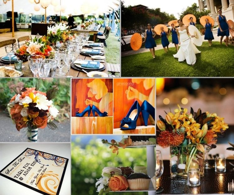 Inspiration Board: Rustic Blue and Orange | Bride cupcakes ...