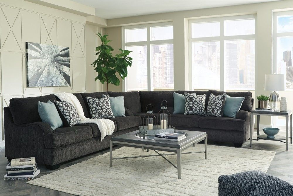 Best Charenton Charcoal 3 Pc Sectional Dream House In 2019 400 x 300