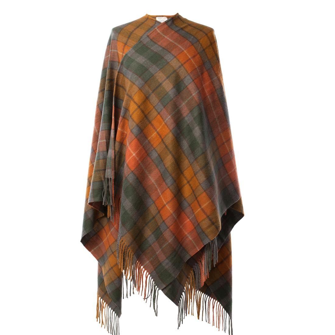 Edinburgh 100/% Lambswool Luxury Scottish Tartan Scarf Buchanan Autumn