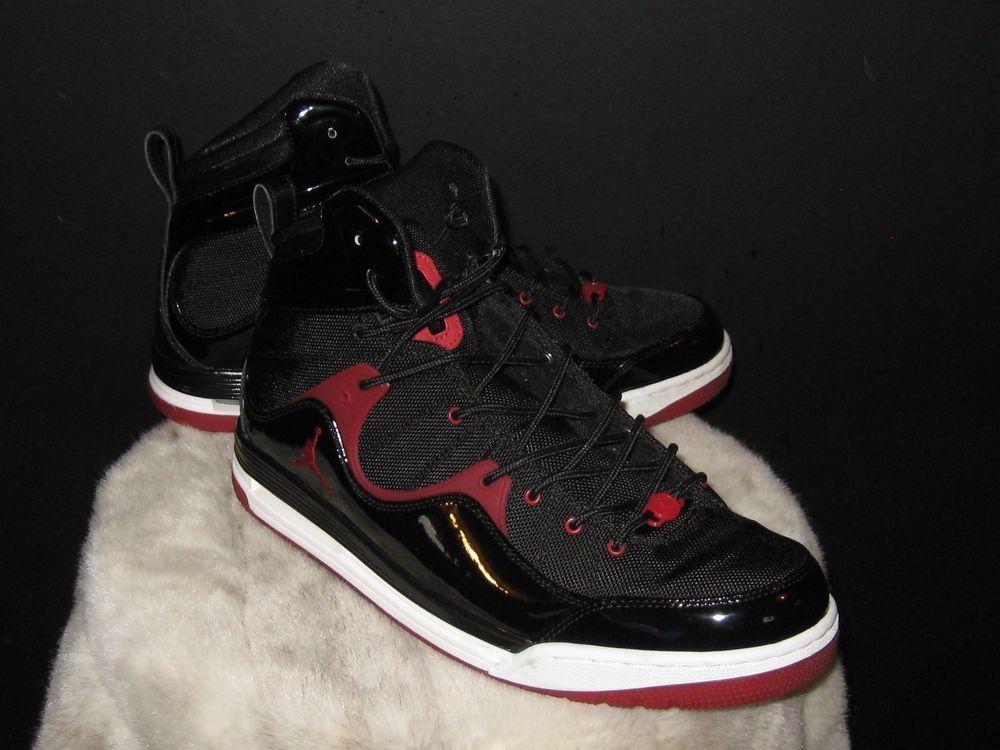 official photos 6ae06 4de30 Men s Air Jordan Flight Bred High Sneakers Sz 12 Black Red White 428826-011   Nike  BasketballShoes  AirJordan