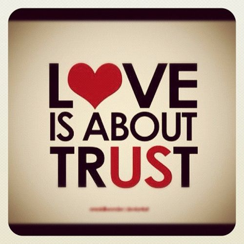 Love is about trust. #quotes #love by Simone Ariu, via Flickr
