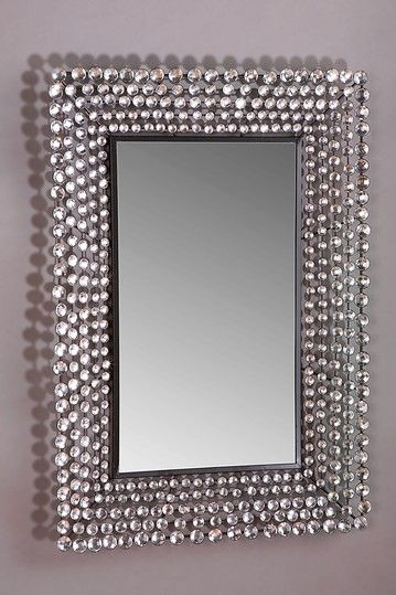 Jeweled Rectangular Mirror Art Deco Mod Art Deco Mad