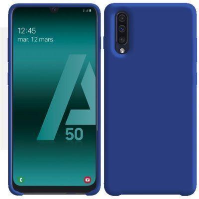 Ibroz Samsung A50 Liquid Silicone bleu marine Accessoire smartphone  |