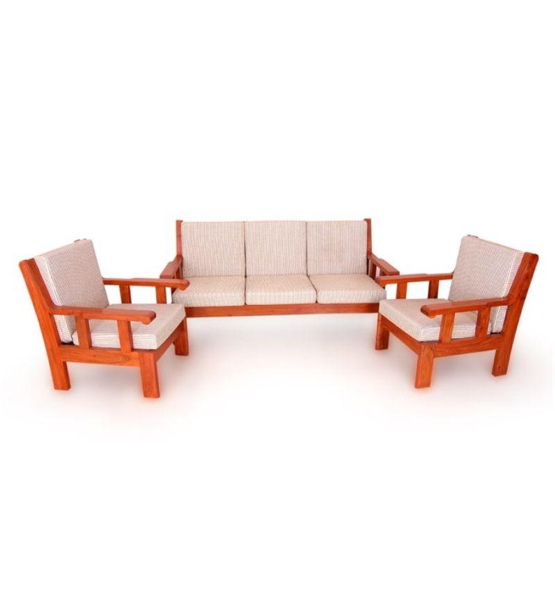 Acacia Wood Sofa Set From Pepper Fry Wood Sofa Sofa Set Designs Sofa Set