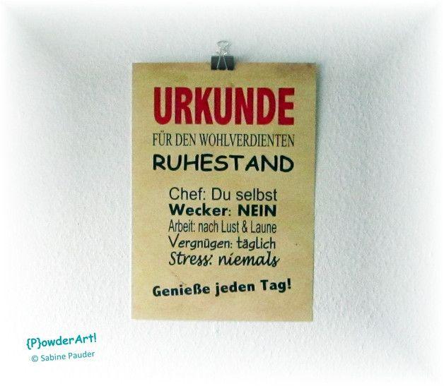 Bild Urkunde WOHLVERDIENTER RUHESTAND No1 Druck A4