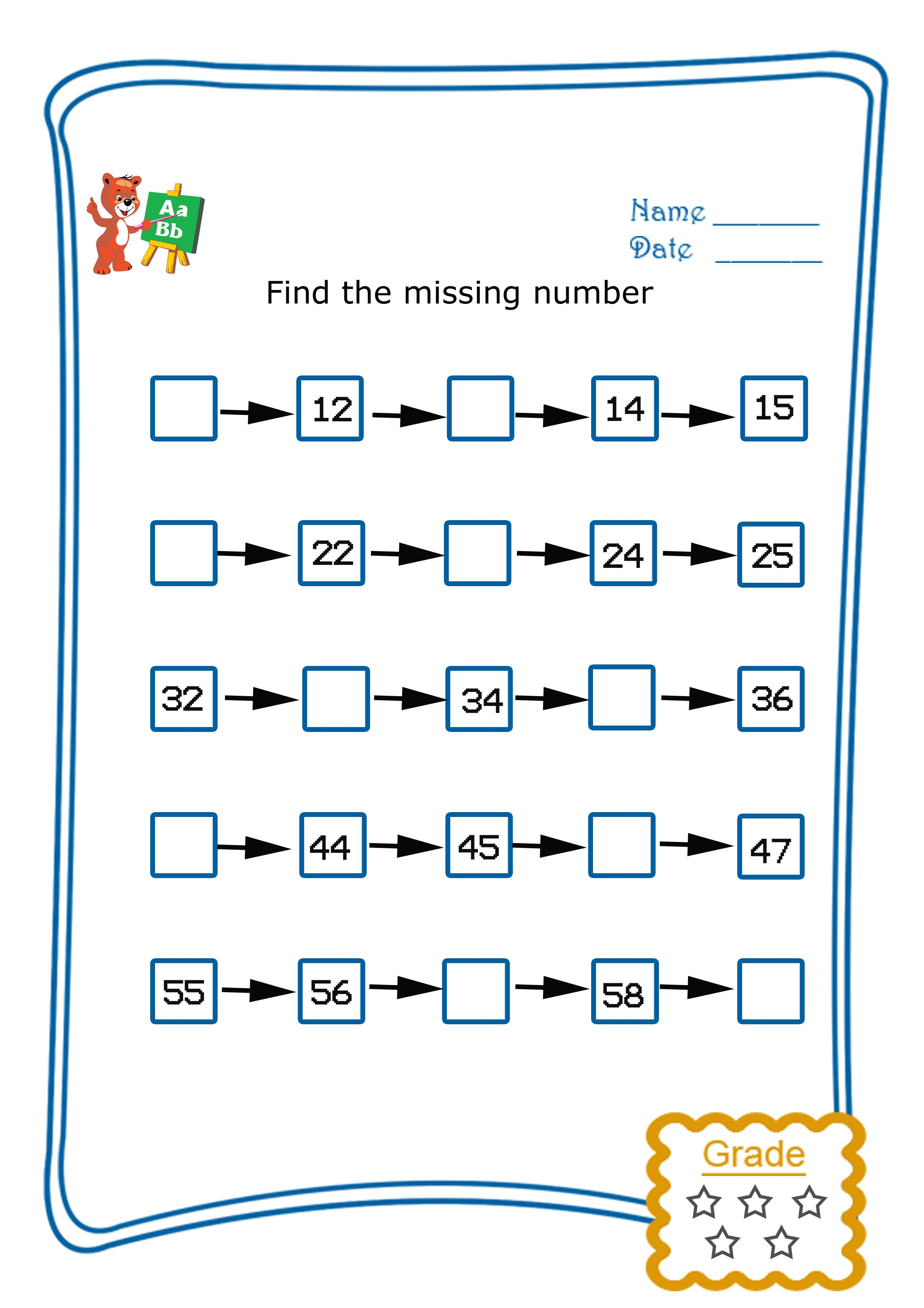Find The Missing Numbers 2 Freebie