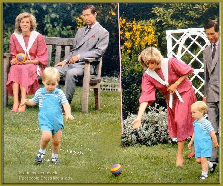 June 12 1984 Prince Charles Princess Diana With Prince William At A Photocall In The Garden Of Kensington Palace London Diana Prenses Diana Prenses