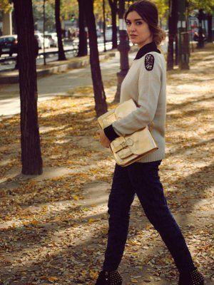 nightnonstop Outfit   Otoño 2012. Combinar Bolso Dorado H