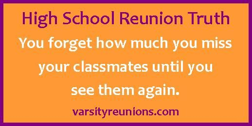 You forget how much you miss your classmates until you see them