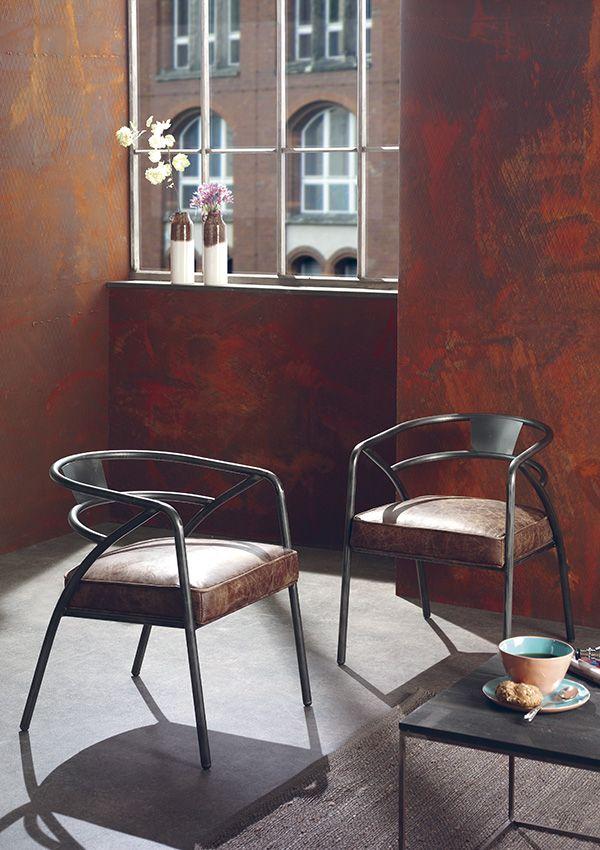 fauteuil trenton structure en fer finition vintage de chez cocktail scandinave salon. Black Bedroom Furniture Sets. Home Design Ideas