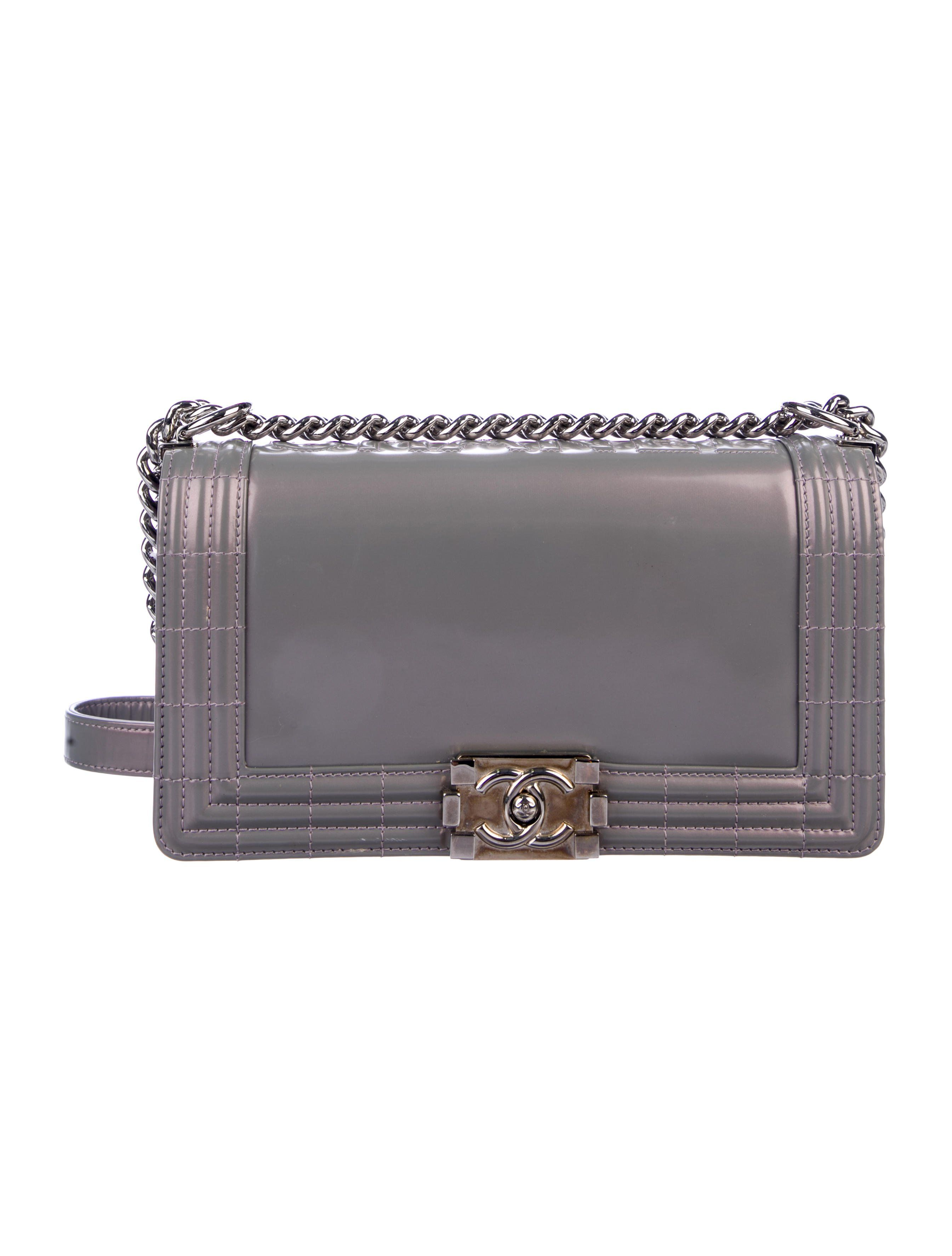facc7b782003 Iridescent lavender patent leather Chanel Reverso Medium Boy flap bag with  silver-tone hardware,