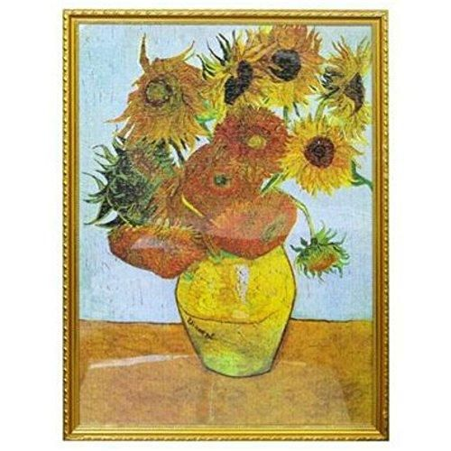Oil Painting Sunflower by Van Gogh, Jigsaw Puzzles 1000
