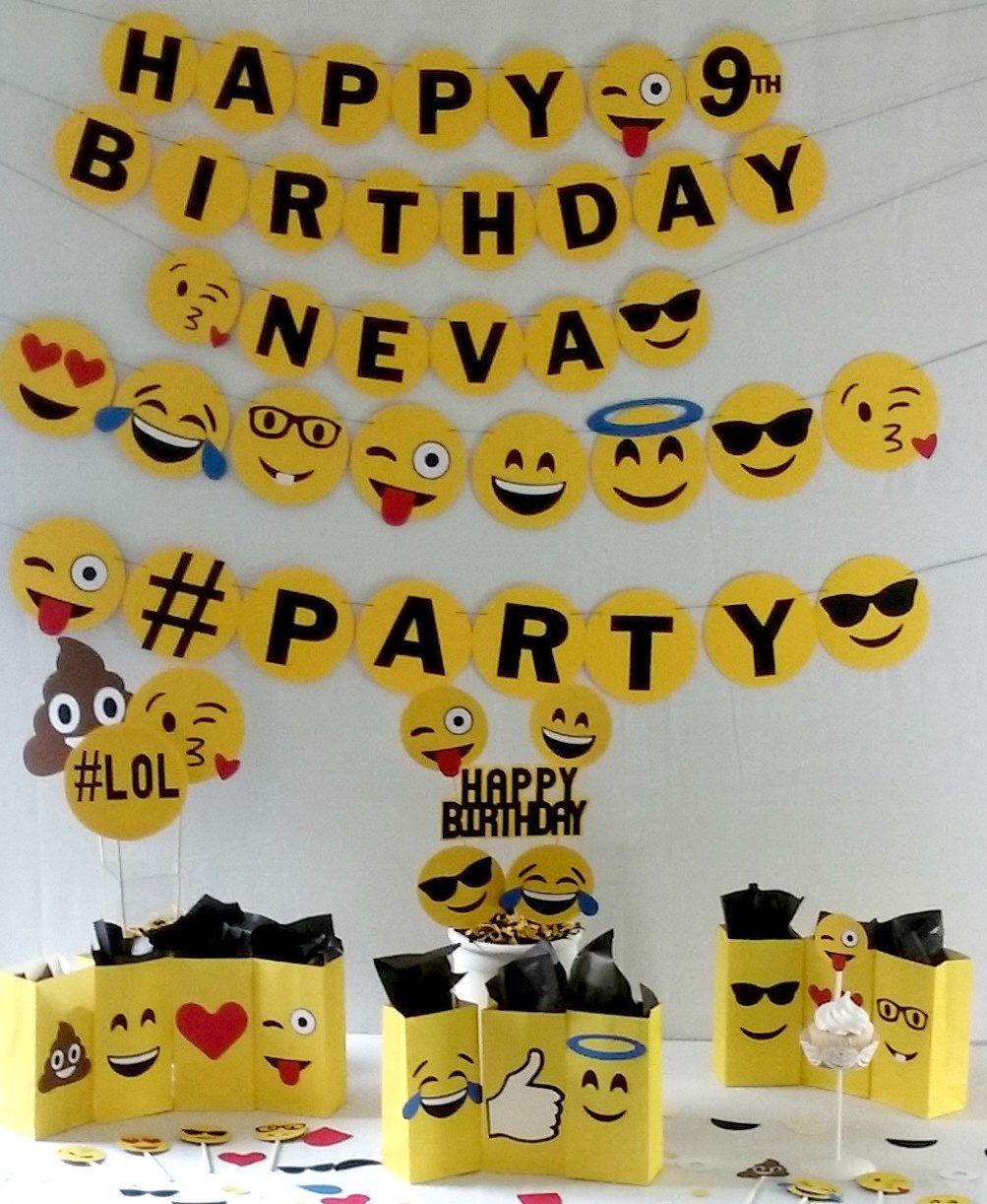 Emoji Birthday Party Package