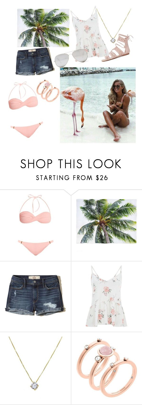 """""""Summer is So Close"""" by merylrs ❤ liked on Polyvore featuring Melissa Odabash, Hollister Co., Michael Kors and Sunny Rebel"""