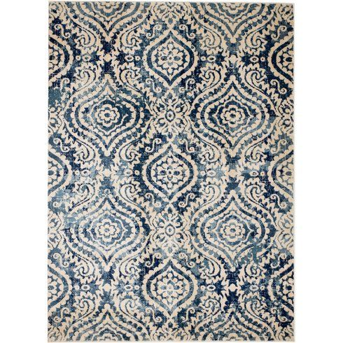 Amy Royal Trellis Creamblue Area Rug In 2019 Madalyn Blue Area