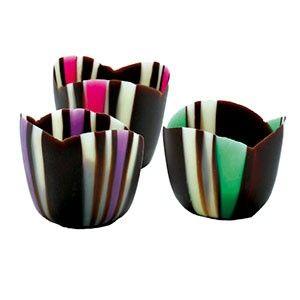 Coloured Tulip Chocolate Cups