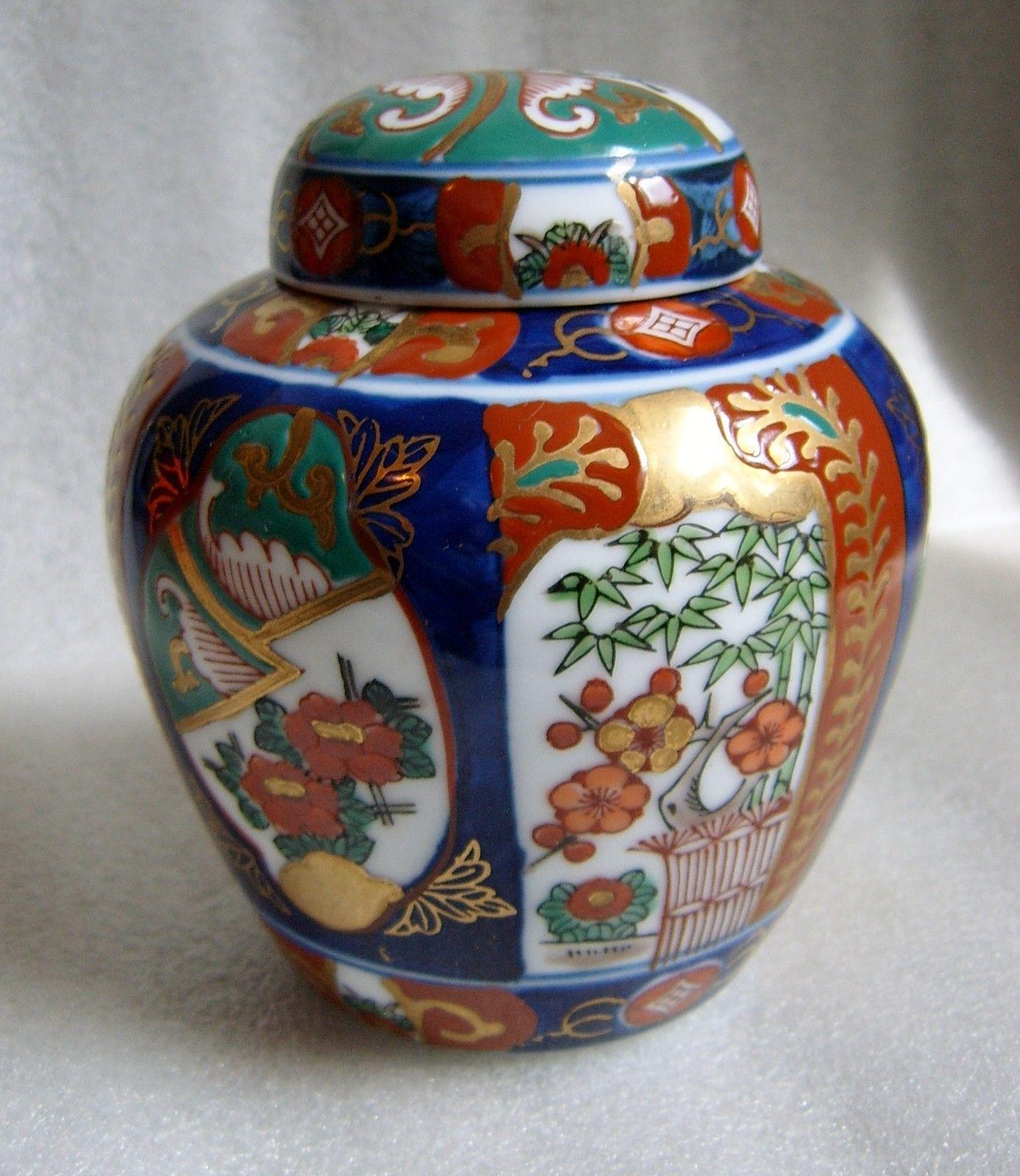 Lovely imari hand painted made in japan ginger pot with matching lovely imari hand painted made in japan ginger pot with matching lid gold gilt ebay reviewsmspy