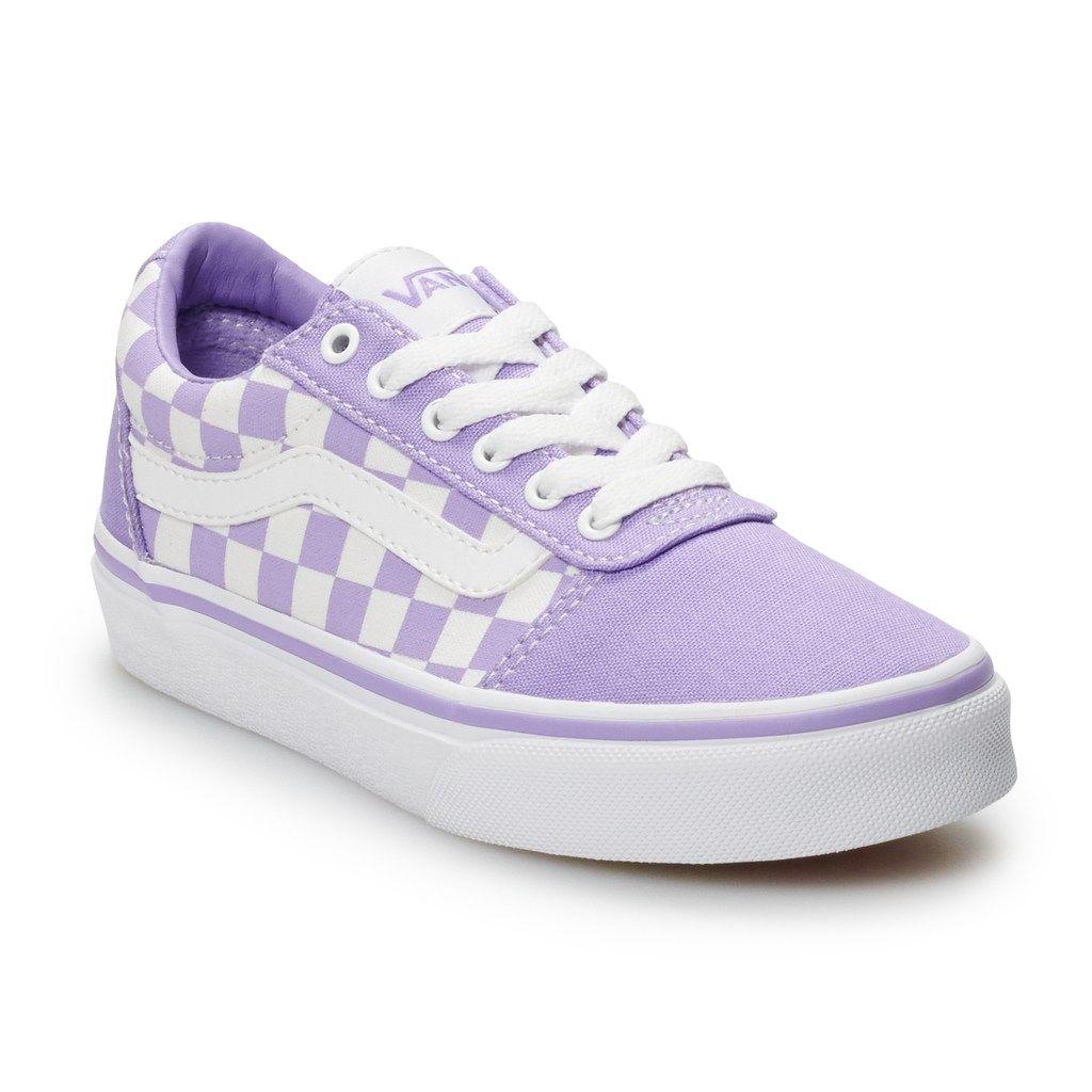Vans Ward Girls' Checkered Skate Shoes