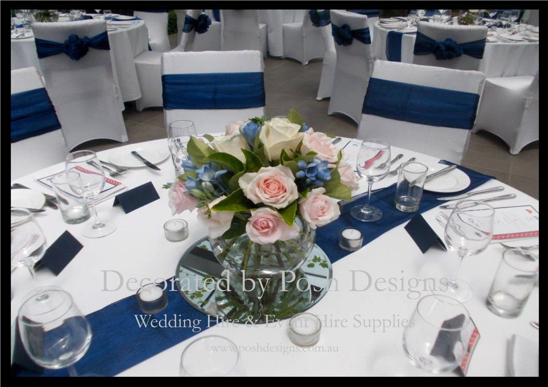 Blue And White Wedding Theme Decorations For Hire
