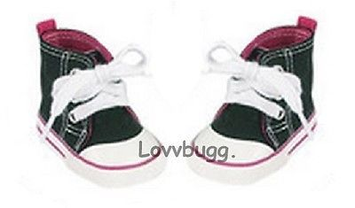 "Pink Sneakers for American Girl 18/"" and Bitty Baby 15/"" Doll Shoes BY LOVVBUGG!"