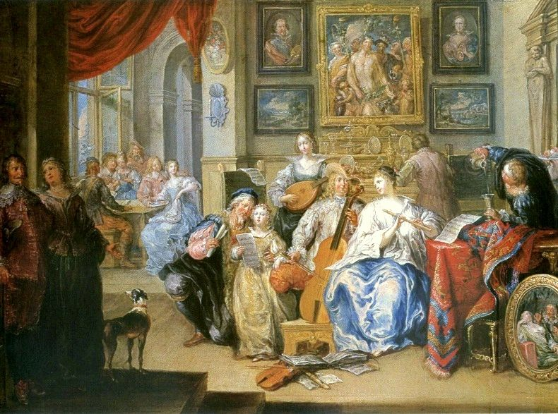 Johann Georg Platzer (1704–1761), The Concert, 1730s