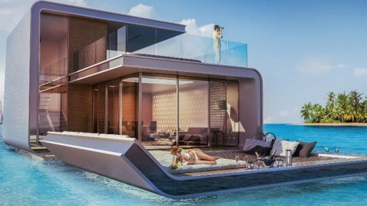 Awesome floating house lux