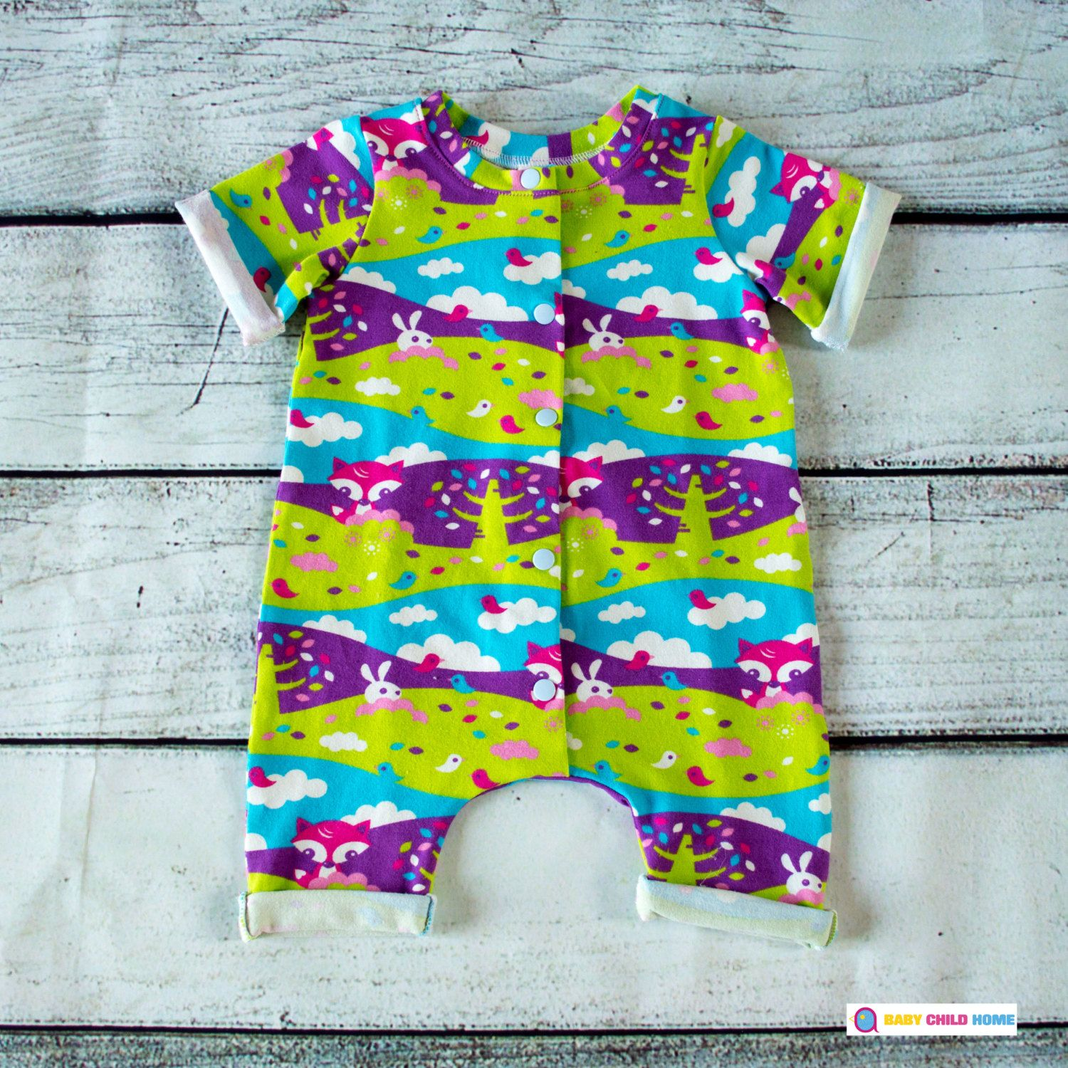 Summer Baby Romper Baby Dungarees Organic Baby Clothes