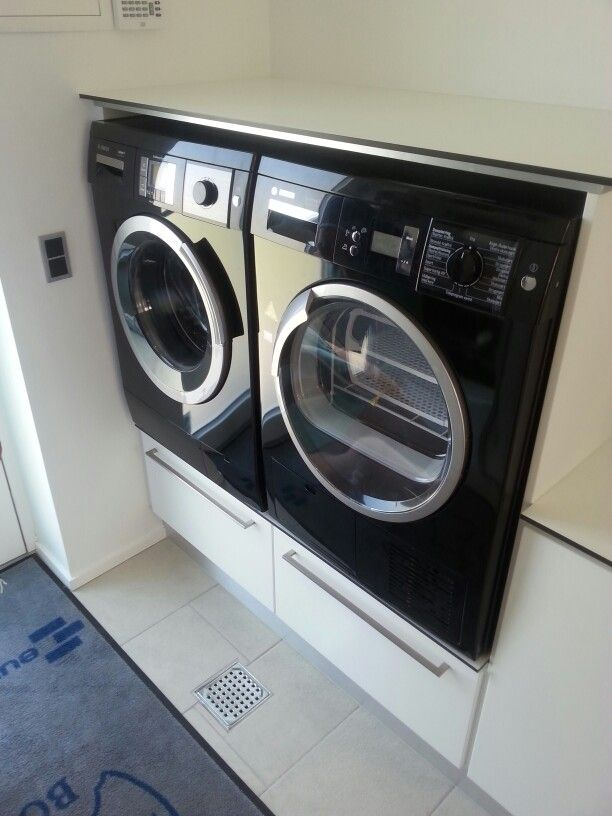 Good idea higher placed washer and dryer