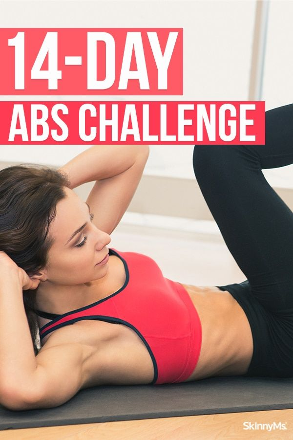 14-Day Abs Challenge for a Sleek and Sexy Core | Skinny Ms. #abchallenge
